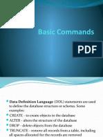 Basic Commands Of SQL
