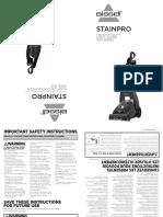 Stainpro User Guide De L Utilisateur 1623 Series 1623