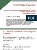 GESTÃO DO ESCRITÓRIO DE ADVOCACIA