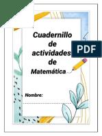 Cuadernillo 1 de matemática PRIMER GRADO