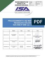 ISA-HSE-P-008 rev. 002 Procedimiento de Manejo de Residuos Sólidos.docx