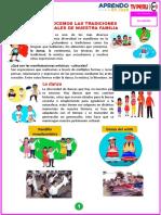 JULIO-02 RECONOCEMOS LAS TRADICIONES CULTURALES DE NUESTRA FAMILIA