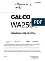 WA 250-5          (70001 AND UP ESPAÑOL)