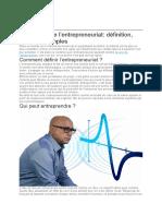 doc sur entrepreneuriat