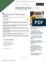 """19-03-19-Diputados lanza el """"Portal de leyes abiertas"""" - Noticias - Parlamentario"""