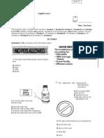 Kertas peperiksaan - Mid year 2008 English/BI Exam paper 1 Form 1 with answers, mus225