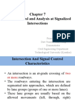 Traffic Control and Analysis at Signalized Intersections