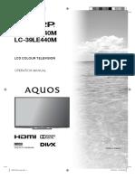 Sharp 29 and 39 incj User Manual