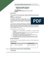 1.10.1.2 Especificaciones técnicas - Obras de Arte y Drenaje