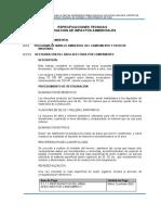 1.10.1.4 Especificaciones técnicas - Mitigación de impactos ambientales