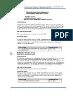 1.10.1.5 Especificaciones técnicas - Monitoreo Arqueológico