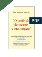 La Prohibition de l'encest et ses Origenes - Durkheim.fr.pt