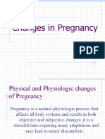 Changes in Pregnancy