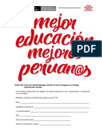 Modelo Ficha Sintomatologica y Declaraciones Juradas Para El Plan de Vigilancia Prevención YControl IE