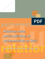 Relations entre  partis politiques  et parlementaires  en Haïti