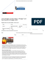 """GD Topic_ Union Budget of India_ What is """"Budget"""" and Key Features of Budget 2020.pdf"""