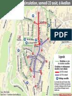 Circulation à Avallon samedi 22 août 2020