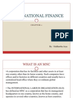 MULTINATIONAL FINANCE chp1