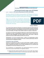 Superintendencia formuló cargos contra AFP Modelo y Habitat