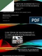 LOS TIPOS DE MATRIMONIO Y LA RELACIÓN EXTRAMARITAL.pptx