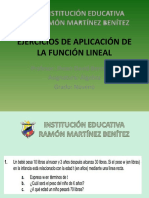 EJERCICIOS DE APLICACIÓN DE LA FUNCIÓN LINEAL