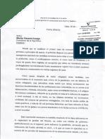 Carta Del Defensor Del Pueblo Walter Gutiérrez Al Presidente de La República Martín Vizcarra