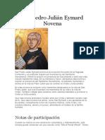 San Pedro Julián Eymard Novena