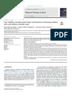 Artigo cientifico - Análise da estabilidade do core em atletas arremessadores