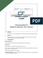 PTO-20 PROCEDIMIENTO MANEJO MANUAL DE CARGAS