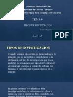 TEMA 9 TIPOS DE INVESTIGACIÓN