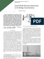 3D Fluid-Structure Interaction Analysis for Bridge Aerolasticity