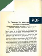 Ferenczi Zur Nosologie der mannlichen Homosexualitat