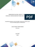 Protocolo de prácticas del laboratorio  de Química de alimentos