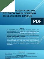 Identificación y control de los factores de riesgo