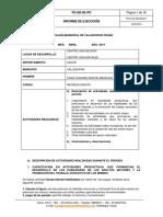 INFORME DE EJECUCIÓN Recreacionista