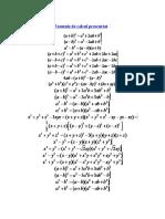 Formule calcul prescurtat