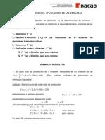 Guia Nº 4  Aplicación a Economia (criterio segunda derivada)