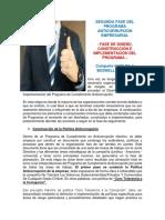 SEGUNDA FASE DEL PROGRAMA ANTICORRUPCIÓN EMPRESARIAL