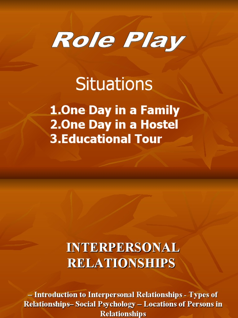 interpersonal relationship ppt 1