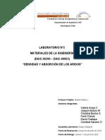Laboratorio N°2 Densidad y Absorción de los Áridos
