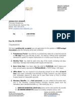 Job Offer (HR-Paralegal Consultant)