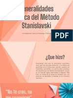 Generalidades acerca del Método Stanislavski