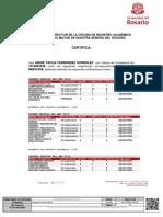 Anexo 1.) Certificado de Notas de la Carrera Medicina