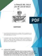 MARXISMO A FINALES DEL SIGLO XIX Y FINALES