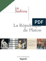 La Republique de Platon (Essais) (French E - Alain Badiou