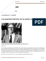 Les grandes théories de la justice sociale (1 2) – Des hauts et débats
