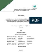 OPTIMISATION DES SYSTEMES DE DESSALEMENT PAR OSMOSE INVERSE par METAICHE MEHDI (1)