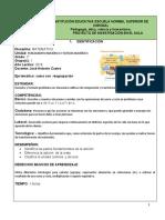 PLAN DE CLASE DE 2° MATEMATICA