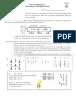 ficha 3 adición sus partes y estrategias de calculo