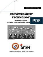 Empowerment-Technology-SHS_Q1_Mod1_ICT in the Context of Global Communication_ver3